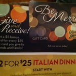 Photo taken at Olive Garden by Shay N. on 12/21/2012