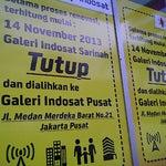 Photo taken at Galeri Indosat by Wina M. on 11/30/2013