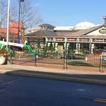 Photo taken at Town Square Fountain by Steve T. on 1/14/2014