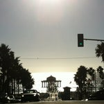 Photo taken at Manhattan Beach by Anderson T. on 10/8/2012