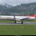 """Nur noch wenige Tage bis SkyWork ab Airport Bern - EuroAirport Basel nach London City fliegt. Dabei fliget SkyWork mit einem """"SAAB 2000"""" ( Darwin)"""
