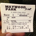 Photo taken at Maywood Park Racetrack by Truth D. on 4/12/2013
