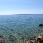 Photo taken at Plaža Frkanj by Riccardo G. on 8/17/2013