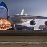 "The largest Airbus on the planet - ukrainian airplane ""Mriya""."