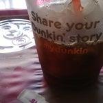 El iced coffee de dunkin donuts es de lo mejor para pasar el calor de Cali.