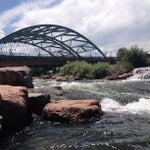 Photo taken at Confluence Park by Vanessa M. on 6/21/2013