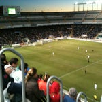 Photo taken at Estadio Manuel Martínez Valero by David B. on 10/28/2012