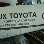 Photo taken at Le Mieux & Son Toyota by Kaitlin on 1/9/2012