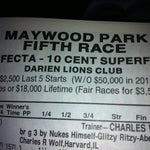 Photo taken at Maywood Park Racetrack by 🇺🇸 Tom 🚑 W. on 5/12/2012