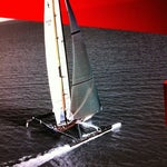 Photo taken at USA-71 BMW-Oracle Racing Boat by Gary G. on 5/15/2012