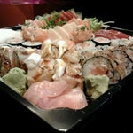 Photo taken at Sushifashion Carcavelos Riviera by Diogo L. on 4/5/2012