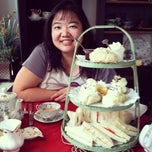 Photo taken at Ye Olde English Shoppe Tea Room by Amanda Y. on 9/1/2012