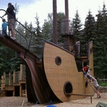 Photo taken at Pirate Ship Playground by Karen H. on 7/5/2011
