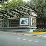 Photo taken at Metrobús Nuevo León-L2 by Víctor G. on 3/19/2012