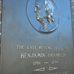Photo taken at Benjamin Franklin's Grave by Ann Marie on 11/9/2012