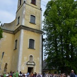 Photo taken at Kostel sv. Jana Křtitele by Marek K. on 6/23/2013