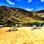 Photo taken at Makaha Beach Park by Amanda H. on 3/4/2013