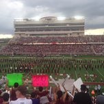 Photo taken at Bobcat Stadium by Nicole on 9/28/2013