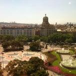 Photo taken at Plaça de Catalunya by Diego D. on 5/6/2013