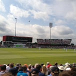 Photo taken at Old Trafford Cricket Ground by Andrew M. on 8/1/2013
