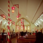 Photo taken at Gereja Katholik Santa Maria by Hapsari on 2/10/2013