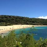 Photo taken at Waimea Bay by Buford B. on 8/6/2013