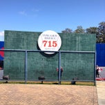 Photo taken at Hank Aaron 715 Home Run Marker by Wally G. on 5/5/2013