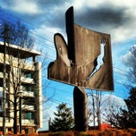 """Photo taken at """"Homage to King"""" Sculpture by Mallory O. on 1/12/2013"""
