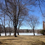 Photo taken at Washington Township Lake by Will T. on 3/18/2014