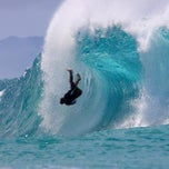 Photo taken at Banzai Pipeline, North Shore by Edward L. on 4/7/2013