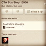 Photo taken at CTA Bus Stop 15930 by Elina B. on 1/23/2013