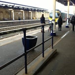 Photo taken at Dewsbury Railway Station (DEW) by Lorna R. on 1/8/2013