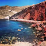 Photo taken at Κόκκινη Παραλία (Red Beach) by Luca V. on 9/5/2013
