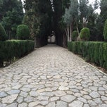 Photo taken at Jardins de la Cartoixa by Thomas W. on 2/14/2015