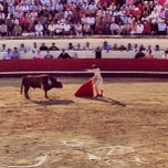 Photo taken at Arènes de Beziers by Mathieu L. on 8/16/2013