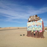 Photo taken at Salvation Mountain by Nathan P. on 12/29/2012