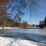 Photo taken at Lietzensee by Christoph D. on 3/23/2013