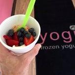 Photo taken at Yogi Frozen Yogurt by Tom B. on 7/17/2013
