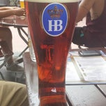 Photo taken at Hofbräu München Beer Hall by Maru C. on 7/27/2013