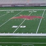 Photo taken at Bobcat Stadium by Jamison C. on 10/10/2012