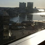 Photo taken at Club Lounge @ the Sheraton Inner Harbor by Cynthia T. on 3/9/2013