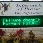 Photo taken at Tabernacle of Praise Worship Center by Gavora J. on 11/3/2013