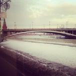 Photo taken at Большой Каменный мост / Bolshoy Kamenny Bridge by Ksu M. on 2/15/2013