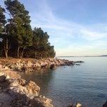 Photo taken at Plaža Frkanj by Just I on 11/20/2014