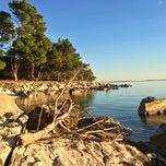 Photo taken at Plaža Frkanj by Just I on 12/18/2014