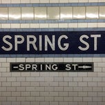 Photo taken at MTA Subway - Spring St (6) by Matthias C. on 11/14/2013