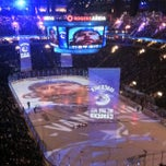 Photo taken at Rogers Arena by Jason B. on 10/9/2013