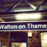 Photo taken at Walton-on-Thames Railway Station (WAL) by Pauline B. on 2/18/2013