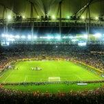 Photo taken at Estádio Jornalista Mário Filho (Maracanã) by T. A. on 6/16/2013