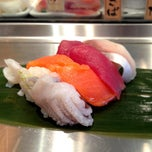 Photo taken at STANDING SUSHI BAR 魚がし日本一 新橋日比谷口店 by hirotomo on 5/28/2013